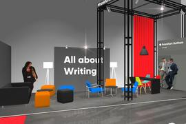 Frankfurt Authors – Computer generated image of the of the authors lounge at Frankfurter Buchmesse
