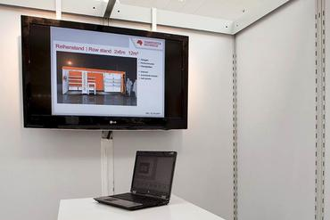 Slide show of a 3D model for an exhibition stand
