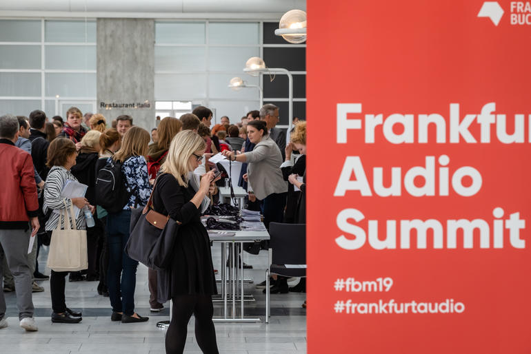 Frankfurter Buchmesse Audio Summit Eingang