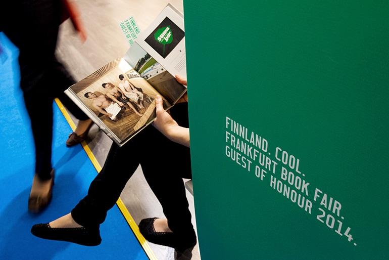 Guest of Honour 2014 Finland with the slogan Finnland. Cool.