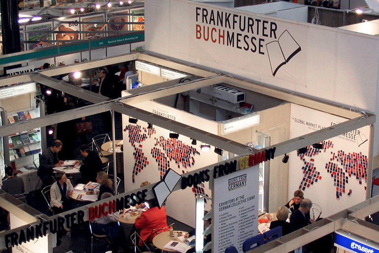 Frankfurt Book Fair stand from above