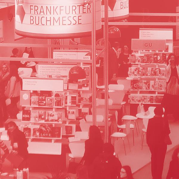 view from above on the Frankfurter Buchmesse stand in London