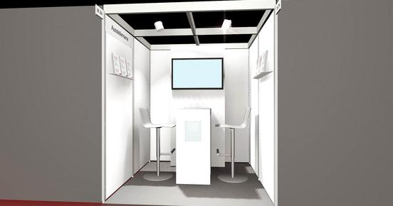 3D model of a planned trade fair stand