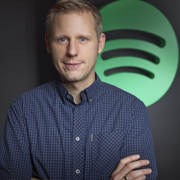 Michael Krause, Managing Director Central Europe bei Spotify, auf der Frankfurter Buchmesse